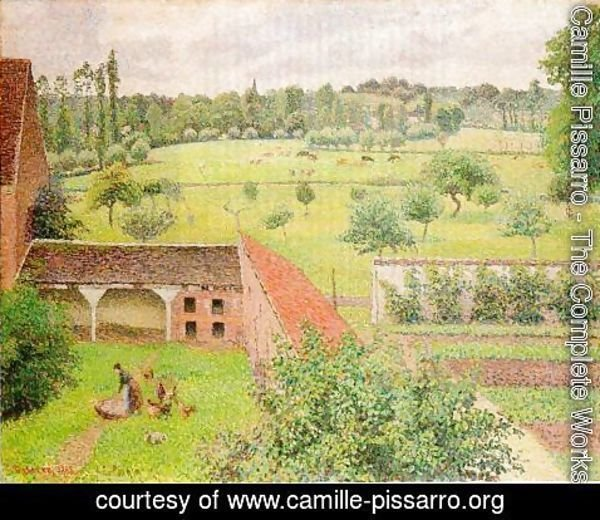 Camille Pissarro - View from My Window, Eragny