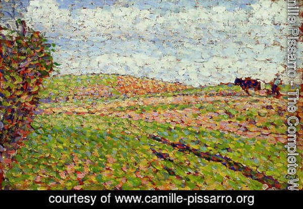 Camille Pissarro - Working at Eragny