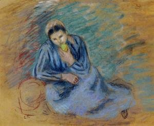 Camille Pissarro - Seated Peasant Woman Crunching an Apple