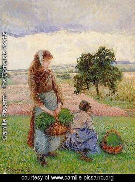 Camille Pissarro - Peasant Woman Carrying a Basket