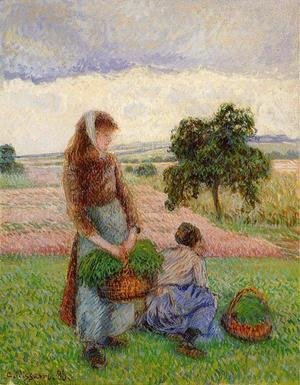 Peasant Woman Carrying a Basket