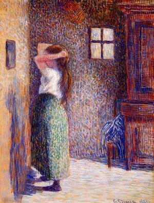 Camille Pissarro - Young Peasant at Her Toilette