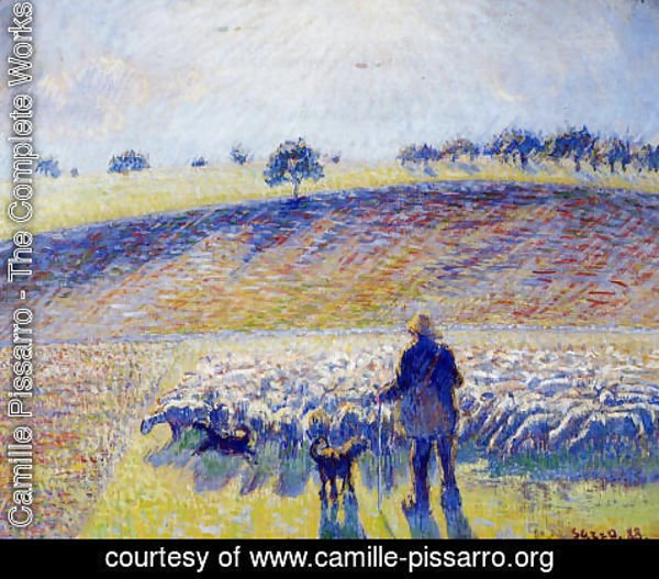Camille Pissarro - Shepherd and Sheep