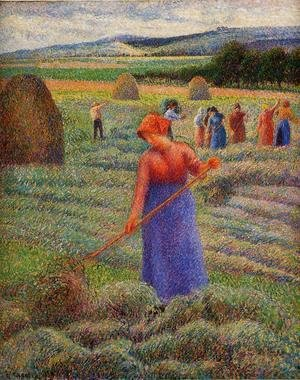 Camille Pissarro - Haymakers at Eragny
