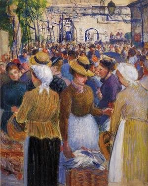 Camille Pissarro - Poultry Market at Gisors