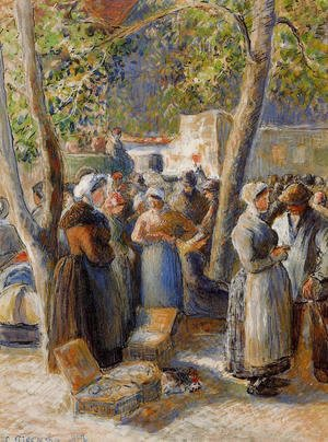 Camille Pissarro - The Market in Gisors