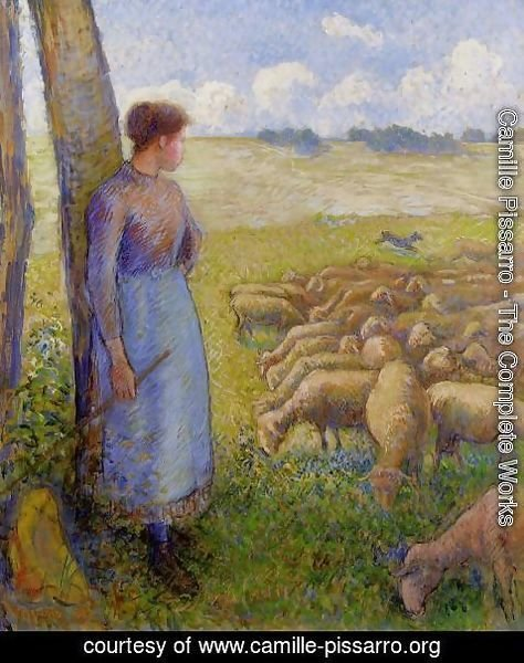 Camille Pissarro - Shepherdess and Sheep