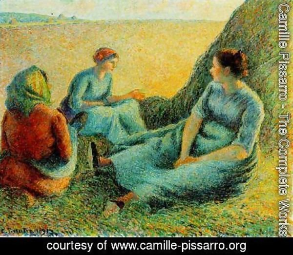 Camille Pissarro - Haymakers at Rest