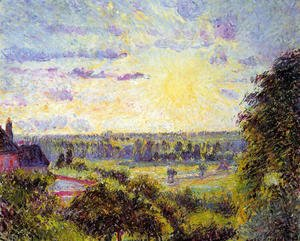 Camille Pissarro - Sunset at Eragny I