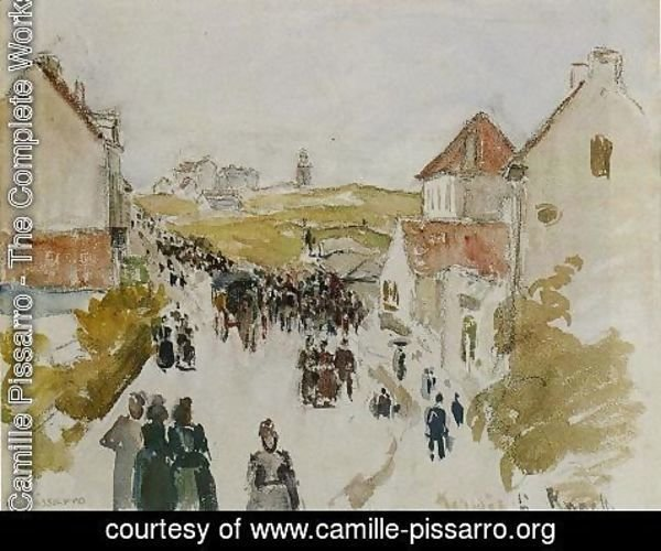 Camille Pissarro - Feast Day in Knokke