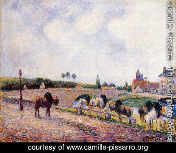 Camille Pissarro - The Pontoise Bridge