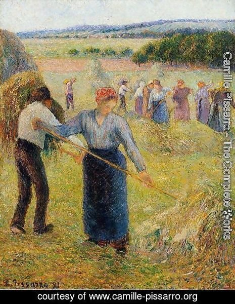 Camille Pissarro - Haymaking at Eragny