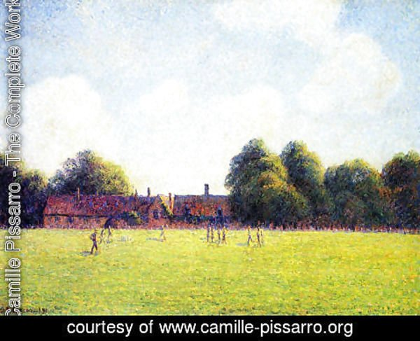Camille Pissarro - Hampton Court Green, London