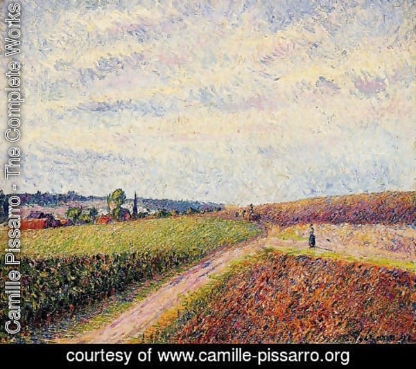 Camille Pissarro - View of Eragny I