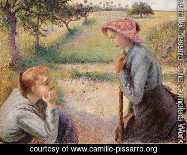 Camille Pissarro - Two Peasant Woman Chatting