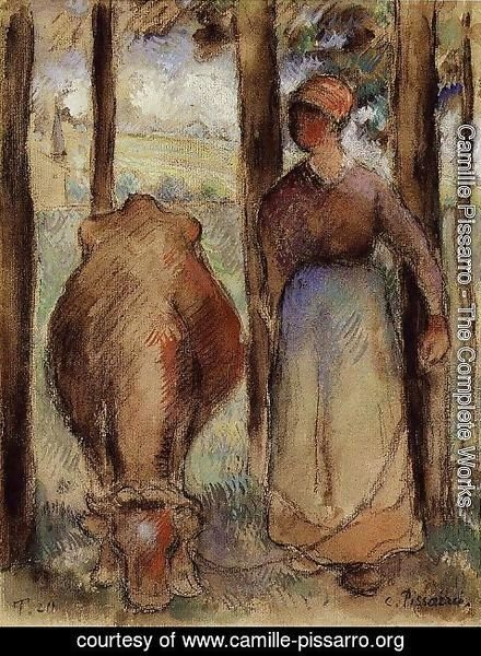 Camille Pissarro - The Cowherd I