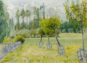 Camille Pissarro - Study of Apple Trees at Eragny