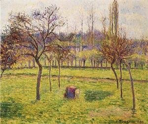 Camille Pissarro - Apple Trees in a Field