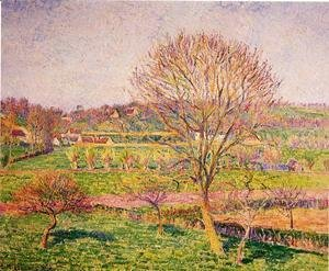 Camille Pissarro - Big Walnut Tree at Eragny