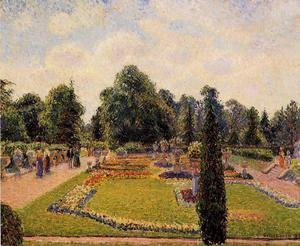 Camille Pissarro - Kew Gardens: Path  between the Pond and the Palm House