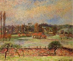 Camille Pissarro - Flood, Morning Effect, Eragny