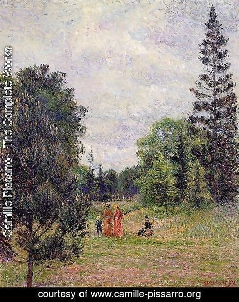 Camille Pissarro - Kew Gardens, Crossroads near the Pond