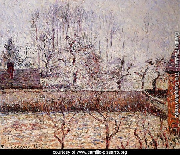 Landscape, Frost and Fog, Eragny