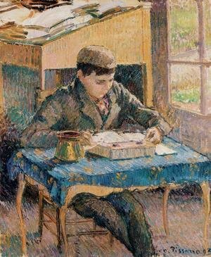 Camille Pissarro - Portrait of Rodo Reading