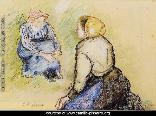 Seated Peasant and Knitting Peasant