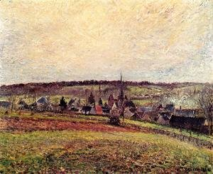 Camille Pissarro - The Village of Eragny I