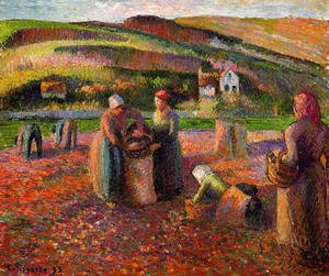 Camille Pissarro - Potato Harvest I