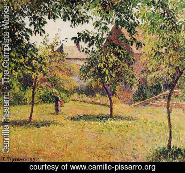 Camille Pissarro - The Barn, Morning, Eragny