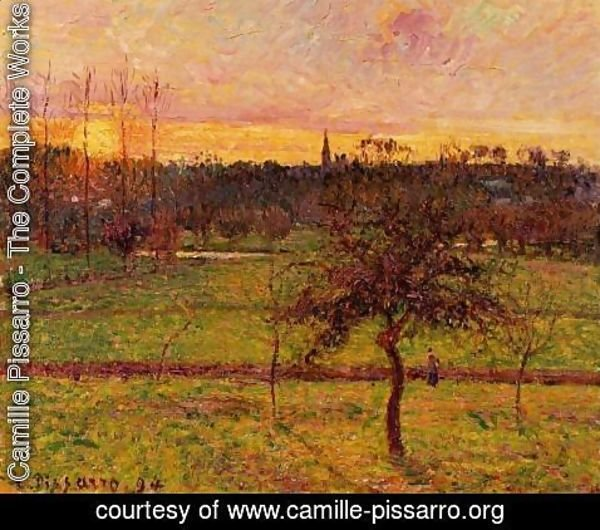 Camille Pissarro - Sunset at Eragny II