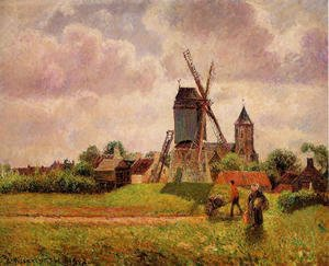 Camille Pissarro - The Knocke Windmill, Belgium