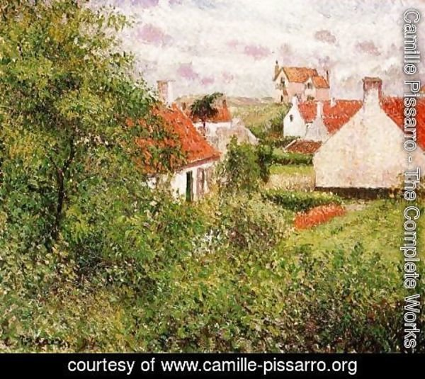 Camille Pissarro - Houses at Knocke, Belgium