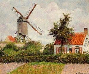 Camille Pissarro - Windmill at Knocke, Belgium