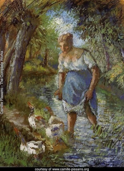 Peasant Crossing a Stream