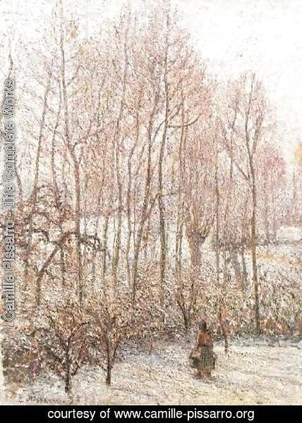 Camille Pissarro - Morning, Sunshine Effect, Winter