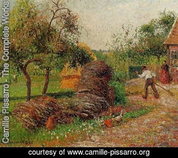 Camille Pissarro - Mother Lucien's Yard
