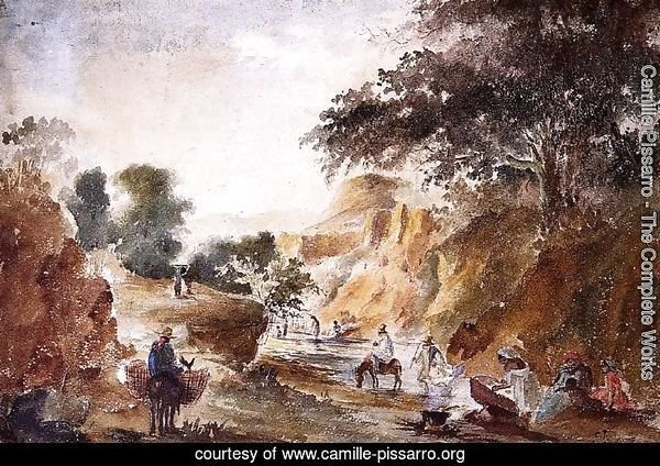 Landscape with Figures by a River