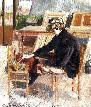 Camille Pissarro - Paul Painting, Study