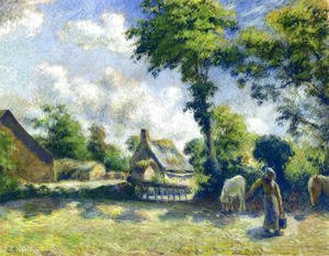 Landscape at Melleray, Woman Carrying Water to Horses