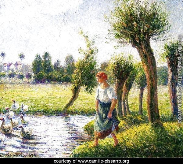Peasant Woman Watching the Geese