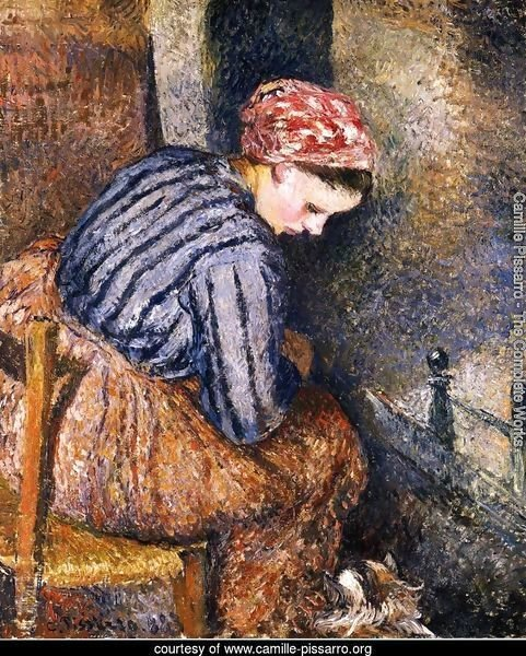 Peasant Woman Warming Herself