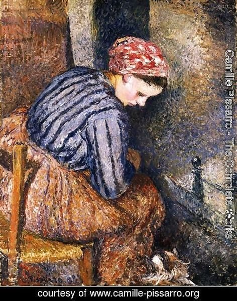Camille Pissarro - Peasant Woman Warming Herself