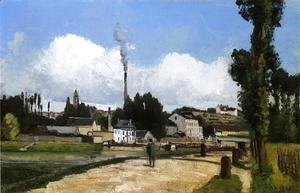 Camille Pissarro - Landscape with Factory