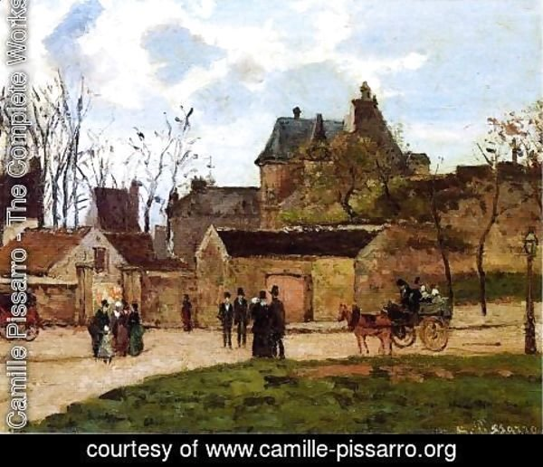 Camille Pissarro - The Court House, Pontoise