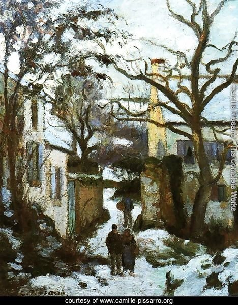 The Road to L'Hermitage in Snow
