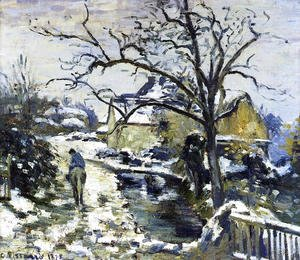 Camille Pissarro - Winter at Montfoucault I