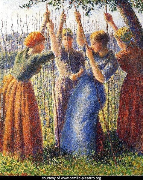 Peasant Women Planting Stakes